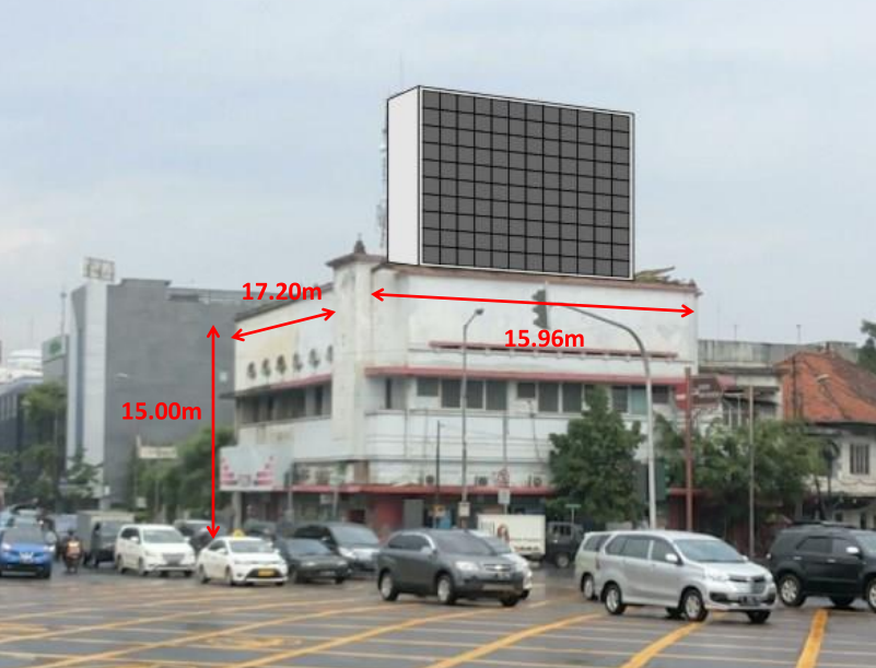 P10 Outdoor LED Screen Wall en Indonesia Yakarta