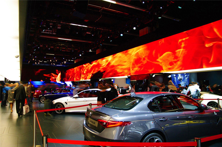 P1.923 unutarnji HD LED video panel u Njemačkoj Auto Show