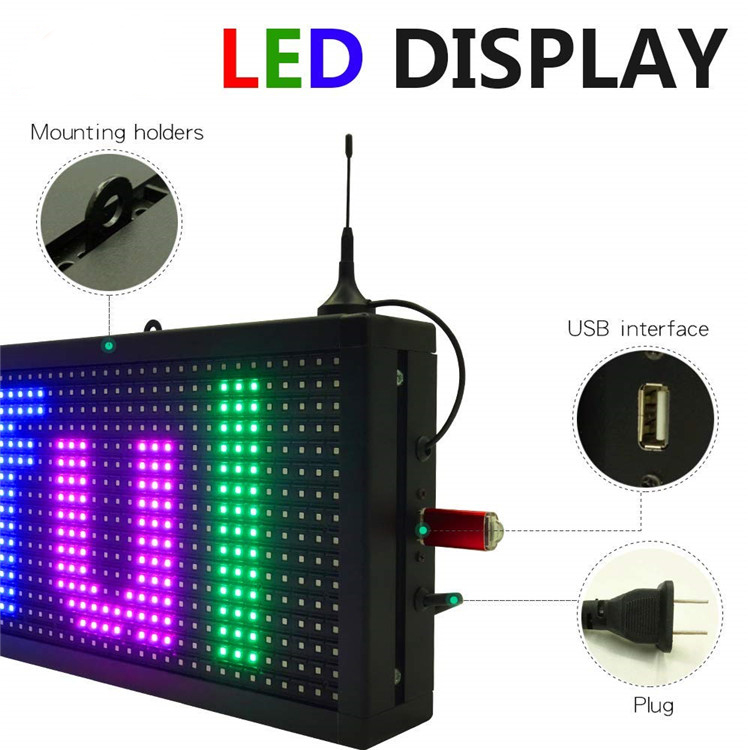 Wifi control P10 Colorful led display sign